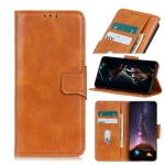 For iPhone 12 6.1 inch Mirren Crazy Horse Texture Horizontal Flip Leather Case with Holder & Card Slots & Wallet(Brown)