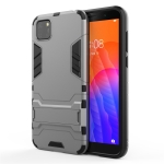 For Huawei Y5P PC + TPU Shockproof Protective Case with Holder(Grey)