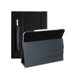 For iPad Pro 12.9 inch (2020) Geya Series PC + TPU Horizontal Flip Leather Case with Holder & Pen Slot & Sleep / Wake-up Function(Classic Black)