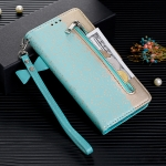 For Xiaomi Redmi K20 / K20 Pro Lace Pattern Double Button Zipper Horizontal Flip Leather Case with Holder & Card Slots & Wallet(Green)