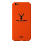 For iPhone 6 Elk Pattern Shockproof Frosted TPU Protective Case(Orange)