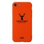 For iPhone SE 2020 / 8 / 7 Elk Pattern Shockproof Frosted TPU Protective Case(Orange)