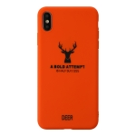 For iPhone XS Max Elk Pattern Shockproof Frosted TPU Protective Case(Orange)