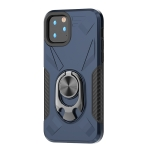 For iPhone 11 Pro Shockproof PC + TPU Case with Ring Holder(Navy Blue)
