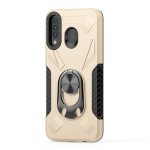For Samsung Galaxy M30 Shockproof PC + TPU Case with Ring Holder(Gold)