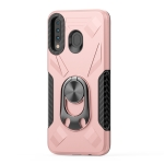 For Samsung Galaxy M30 Shockproof PC + TPU Case with Ring Holder(Rose Gold)