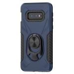 For Samsung Galaxy S10e Shockproof PC + TPU Case with Ring Holder(Navy Blue)