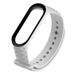 For Xiaomi 3 / 4 Diamond Texture Two-color Silicone Strap,Belt Length:23cm(White Black)