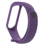 For Xiaomi 3 / 4 Strap Diamond Texture Silicone Strap,Belt Length:23cm(Purple)