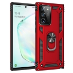 For Samsung Galaxy Note 20+ 5G Shockproof TPU + PC Protective Case with 360 Degree Rotating Holder(Red)