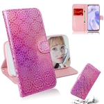 For Huawei P40 lite 5G Solid Color Colorful Magnetic Buckle Horizontal Flip PU Leather Case with Holder & Card Slots & Wallet & Lanyard(Pink)