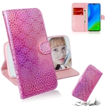 For Huawei P smart 2020 Solid Color Colorful Magnetic Buckle Horizontal Flip PU Leather Case with Holder & Card Slots & Wallet & Lanyard(Pink)