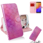 For Huawei Y5p Solid Color Colorful Magnetic Buckle Horizontal Flip PU Leather Case with Holder & Card Slots & Wallet & Lanyard(Pink)