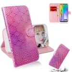 For Huawei Y6p Solid Color Colorful Magnetic Buckle Horizontal Flip PU Leather Case with Holder & Card Slots & Wallet & Lanyard(Pink)