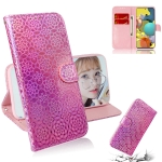 For Samsung Galaxy A51 5G Solid Color Colorful Magnetic Buckle Horizontal Flip PU Leather Case with Holder & Card Slots & Wallet & Lanyard(Pink)