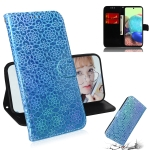 For Samsung Galaxy A71 5G Solid Color Colorful Magnetic Buckle Horizontal Flip PU Leather Case with Holder & Card Slots & Wallet & Lanyard(Sky Blue)
