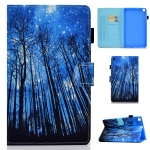 For Samsung Galaxy Tab S6 Lite P610 Colored Drawing Stitching Horizontal Flip Leather Case with Holder & Card Slots(Forest)