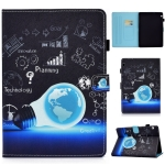 For Huawei MediaPad T3 10.0 inch Colored Drawing Stitching Horizontal Flip Leather Case with Holder & Card Slots(Lamp Bulb)