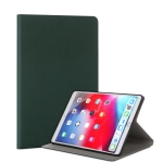 For iPad Air (2019) TPU Electric Pressed Horizontal Flip Leather Case with Holder(Dark Green)