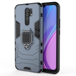 For Xiaomi Redmi 9 Shockproof PC + TPU Protective Case with Magnetic Ring Holder(Navy Blue)