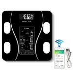 Household Smart Body Fat Electronic Weighing Scale, USB Charging Version (Black)