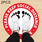 2 PCS Self-adhesive Waterproof PVC Epidemic Prevention Social Distance Floor Stickers, Length:60cm
