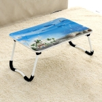 W-shaped Non-slip Legs  Square Pattern Adjustable Folding Portable Laptop Desk without Card Slot