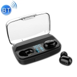 G5 Bluetooth 5.0 TWS Touch LED Digital Display Wireless Sports Bluetooth Earphone with Charging Box (Black)