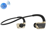 J2 Bluetooth 4.2 Binaural Hanging Type Wireless Sports Bluetooth Earphone, Built-in Memory (Gold)