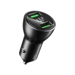REMAX RCC106 Vitor Series 3.4A Dual USB Interface Car Charger with Digital Display (Black)