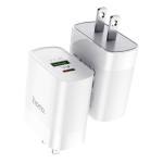 Hoco C80 Rapido 18W PD + QC3.0 Fast Charging USB Travel Charger Power Adapter, US Plug