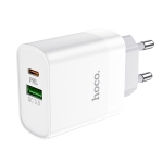 Hoco C80A Rapido 18W PD + QC3.0 Fast Charging USB Travel Charger Power Adapter, EU Plug