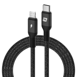 MOMAX 1.2m Type-C / USB-C to 8 Pin PD Fast Charging Braided Cable(Black)