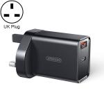 JOYROOM L-QP183 Simple Series 18W Dual Ports Intelligent Travel Charger, Support PD, QC3.0,UK Plug