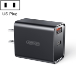 JOYROOM L-QP183 Simple Series 18W Dual Ports Intelligent Travel Charger, Support PD, QC3.0, US Plug