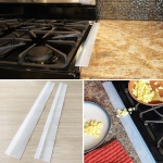 2 PCS 25 inches Gas Stove Slit Strip Antifouling Dustproof Waterproof Kitchen Sealing Strip (Transparent)
