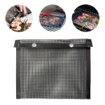 Barbecue Heat Resistant Non-stick Grilling Mesh BBQ Baking Bag, Size: 27 x 22cm (Black)