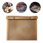 Barbecue Heat Resistant Non-stick Grilling Mesh BBQ Baking Bag, Size: 27 x 22cm (Copper)