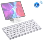 WB-8022 Ultra-thin Wireless Bluetooth Keyboard for iPad, Samsung, Huawei, Xiaomi, Tablet PCs or Smartphones, Russian Keys(Silver)