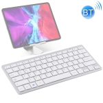 WB-8022 Ultra-thin Wireless Bluetooth Keyboard for iPad, Samsung, Huawei, Xiaomi, Tablet PCs or Smartphones, Portuguese Keys(Silver)