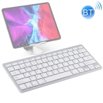 WB-8022 Ultra-thin Wireless Bluetooth Keyboard for iPad, Samsung, Huawei, Xiaomi, Tablet PCs or Smartphones, Spanish Keys(Silver)