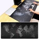 Extended Large Anti-Slip World Map Pattern Soft Rubber Smooth Cloth Surface Game Mouse Pad Keyboard Mat, Size: 90 x 40cm