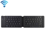 K018 USB Charging Foldable 67 Keys Bluetooth Wireless Keyboard (Black)