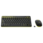 Logitech MK240 Nano Wireless Keyboard and Mouse Set (Black)