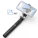 Mini Stabilizer Selfie Stick Tripod Mount Holder,with Bluetooth Remote Control (Black)