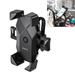 Hoco CA58 Light Ride One-button Bicycle Motorcycle Universal Mobile Phone Holder Bracket (Black)
