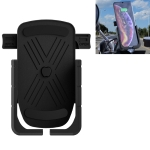 CS-1066B1 Motorcycle Aluminum Alloy Mobile Phone Holder Bracket with Charging Function, Mirror Holder Version (Black)