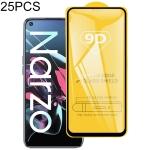 For OPPO Realme Narzo 25 PCS  9D Full Glue Full Screen Tempered Glass Film