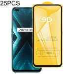 For OPPO Realme X3 25 PCS  9D Full Glue Full Screen Tempered Glass Film