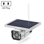 ESCAM QF460 HD 1080P IP67 Waterproof 4G Solar Panel WiFi IP Camera, Support Night Vision / TF Card, US Plug